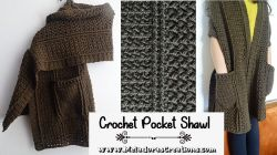 Cable Pocket Shawl