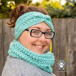 Picot Me Up Ear Warmer & Cowl Set