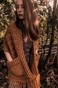 Harvest Moon Pocket Shawl
