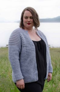 Simple Top Down Raglan Cardigan