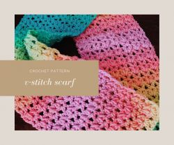 Pretty V-Stitch Scarf