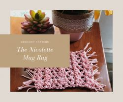 The Nicolette Boho Mug Rug