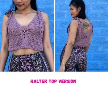 Crochet Dragon Fly Easy Halter top