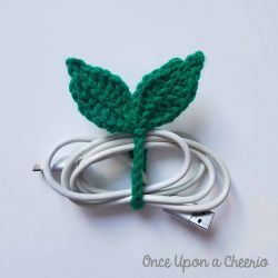 Leaf Sprout Cable Tie and Bookmark