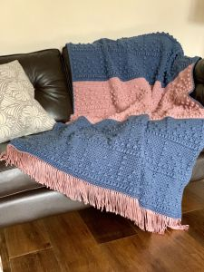 Textured Bobble Throw