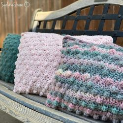 Crochet Bobble Pillow Trio