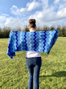 Sky Walk Tunisian Chevron Shawl