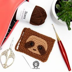 Sloth Crochet Gift Card Holder