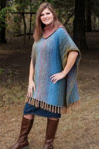 Mountain Trail Tweed Poncho
