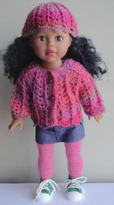 "18"" Shell Stitch Doll Set"