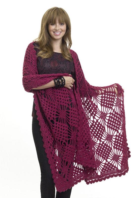 Crochet Patterns Galore Spider Stitch Wrap