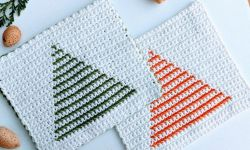 Crochet Christmas Tree Potholder
