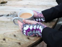 Granny Square Fingerless Gloves