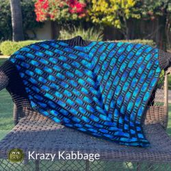 Chevron Cascade Pocket Wrap