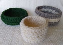 Quick Crochet Baskets