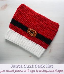Santa Suit Sack Hat