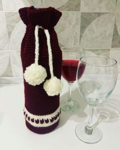 Christmas wine cosy