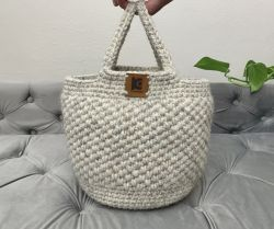 Crochet Basket Bag