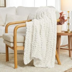 Ribbed Crochet Throw