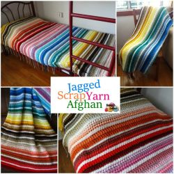 Jagged Scrap Yarn Afghan