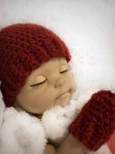 Baby Doll Hat and Mittens