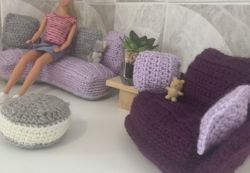 Super Cute Sofa Set - Doll House