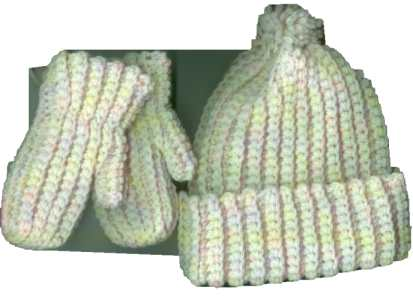 Crochet Patterns Galore - Bev\'s Marvelous Mittens, Hat and Scarf for ...