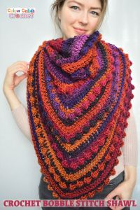 Crochet Bobble Stitch Shawl