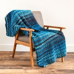 Wide V-stitch Blanket