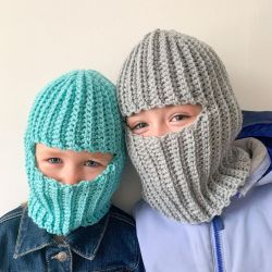 Ribbed Balaclava for Kids