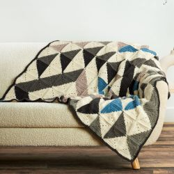 Modern Patchwork Abstract Blanket