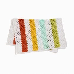 Cheery Granny Stripes Baby Blanket
