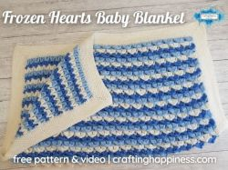 Frozen Hearts Baby Blanket
