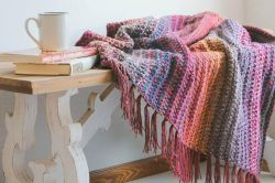 Mountain Trail Tweed Blanket