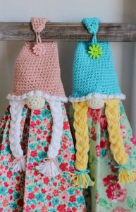 Spring Girl Gnome Towel Topper