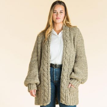 Cozy Cabled Cardigan