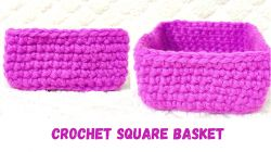 Crochet Square Basket