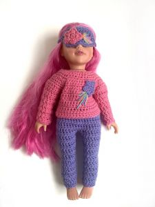 Shooting star doll's pyjamas