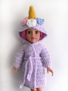 Unicorn Doll Dressing Gown