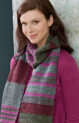 Crochet Patterns Galore Easy Striped Scarf