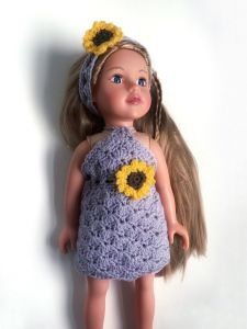 Sunflower dolls dress
