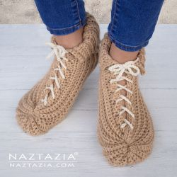 Lace Up Slippers