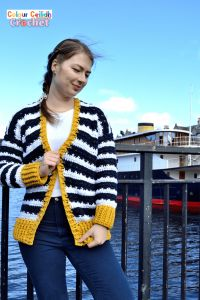 Crochet Nautical Cardigan