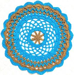 Earth Day Crochet Doily