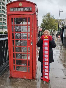 London Phone Booth Scarf