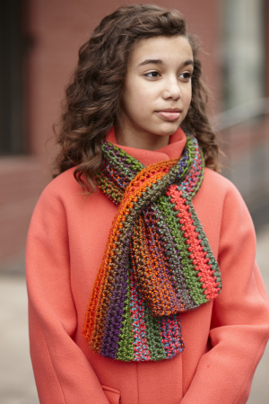 Crochet Patterns Galore Sassy Keyhole Scarf