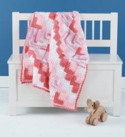Mitered Crochet Baby Blanket