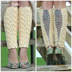 Cables of Love Legwarmers