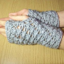 Cross-Over Long DC Fingerless Gloves