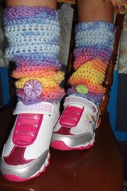 Free Crochet Patterns For Little Girl Leg Warmers : Crochet Patterns Galore - Leg Warmers For Little Girls